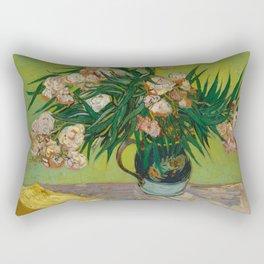 """Vincent Van Gogh """"Oleanders"""" Rectangular Pillow"""