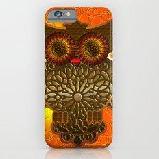Ornament Eule - gold - orange Slim Case iPhone 6s