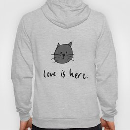 Love is Here (Grey Cat 2) Hoody