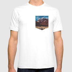 South Island Glacier Mens Fitted Tee MEDIUM White