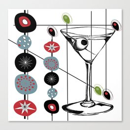 Mid-Century Modern Art Atomic Cocktail 3.0 Canvas Print