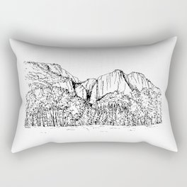 Yosemite Falls in the Valley of Yosemite National Park Rectangular Pillow