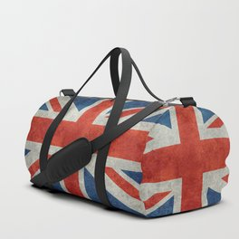 Union Jack flag, grungy retro 1:2 scale Duffle Bag