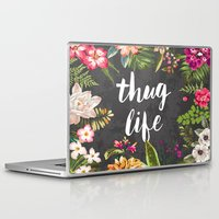 friend Laptop & iPad Skins featuring Thug Life by Text Guy