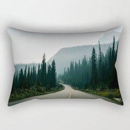 Road trip to the mountains Rectangular Pillow