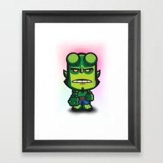 Green Hell Devil Framed Art Print