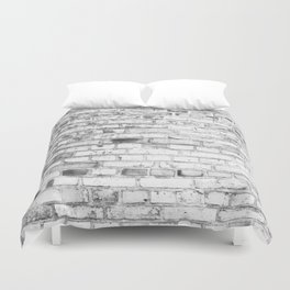 Withe brick wall Duvet Cover