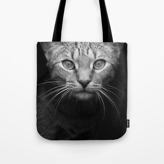 cat katz black white 4 Tote Bag