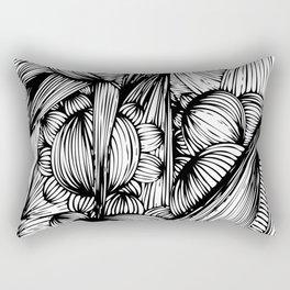 bubbles, spikes & flowers Rectangular Pillow