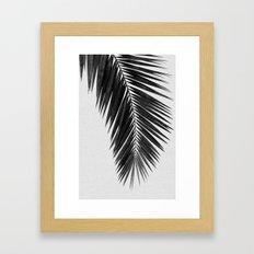Palm Leaf Black & White I Framed Art Print