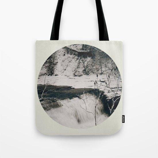 Winter Falls Circular Tote Bag