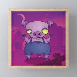 Zombie Pig Framed Mini Art Print
