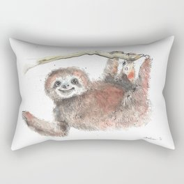 Happy is the Three Toed Sloth Rectangular Pillow