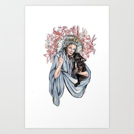 Carrie and Gary Art Print