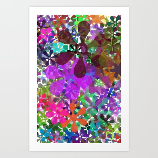PLAYING WITH COLORS Art Print