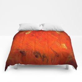 Rustic Orange Home Decor - Comforters - Tapestry - Pillows - Rugs - Shower Curtains Comforters