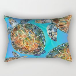 Turtle sea Rectangular Pillow