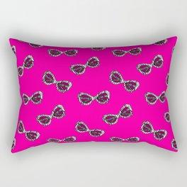 Diva Sunglasses-Pink Rectangular Pillow