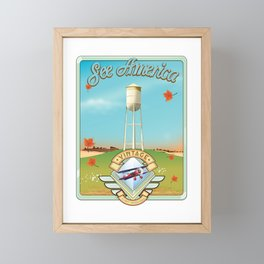 See america vintage travel poster. Framed Mini Art Print