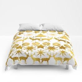 Gold Christmas 04 Comforters