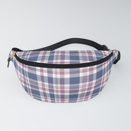 The checkered pattern . Scottish . Blue, red ,white . Fanny Pack