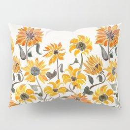 Sunflower Watercolor – Yellow & Black Palette Pillow Sham