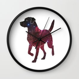 Space Labrador Wall Clock