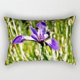 Wild iris on Seal Island, Nova Scotia Rectangular Pillow