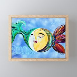 Dreamy Love Connection Framed Mini Art Print