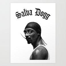 Salva Dogg Art Print