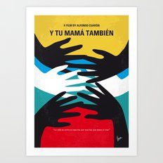 No468 My Y Tu Mama Tambien minimal movie poster Art Print