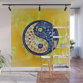 Yin Yang Gold Wall Mural