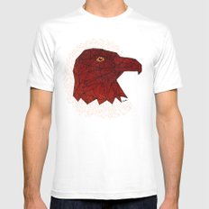 Red Eagle Mens Fitted Tee White MEDIUM
