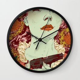 Gonzo Girls vs Sleeping Beauties Wall Clock