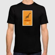 4-legged Exotica Series: Giraffe Black Mens Fitted Tee MEDIUM
