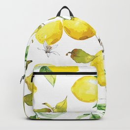 Watercolor lemons 8 Backpack