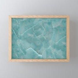 Ice Green Marble Framed Mini Art Print