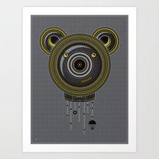 Peace, Love, Panda Art Print