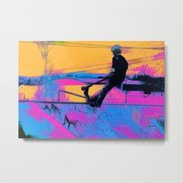On Edge -  Stunt Scooter Artwork Metal Print