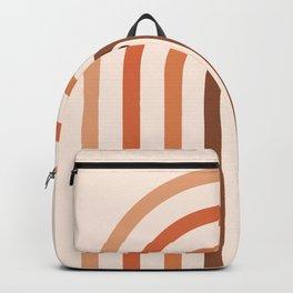 Minimal Geometric Rainbow Arch 01 Backpack