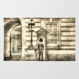 Buckingham Palace Queens Guard Vintage Rug