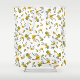 Wall Garden Shower Curtain