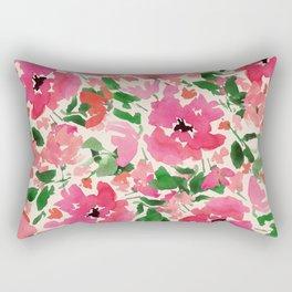 Red Rose Bouquet Rectangular Pillow