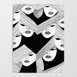 Audrey pattern Poster