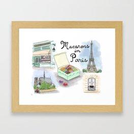 Macarons in Paris Framed Art Print