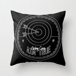 Aim True - Black & White Throw Pillow