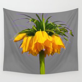 CONTEMPORARY GOLDEN YELLOW CROWN IMPERIAL FLOWERS Wall Tapestry