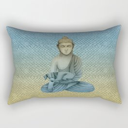 Buddha with dog4 Rectangular Pillow