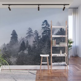 Smoky Redwood Forest Foggy Woods IV - Nature Photography Wall Mural