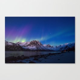 Sunset Aurora Canvas Print